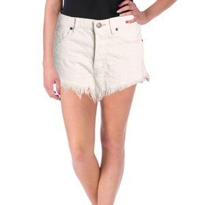 NWT Free People Distressed Frayed Hem Shorts